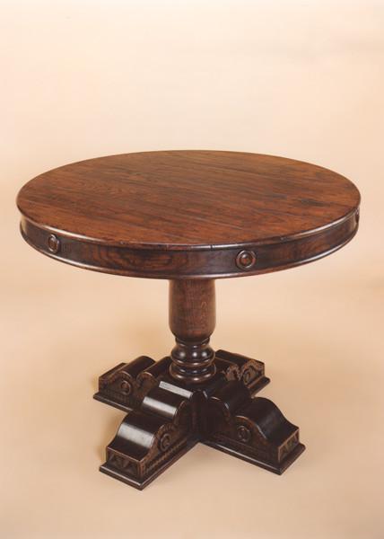 Single Pedestal Table - Cross Base