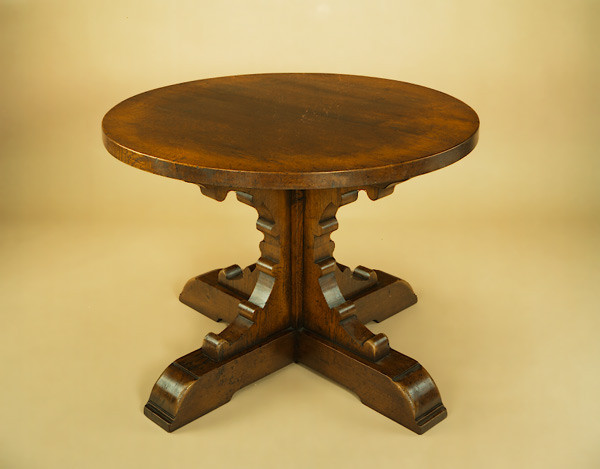 Single Pedestal Table - Bracketed Base