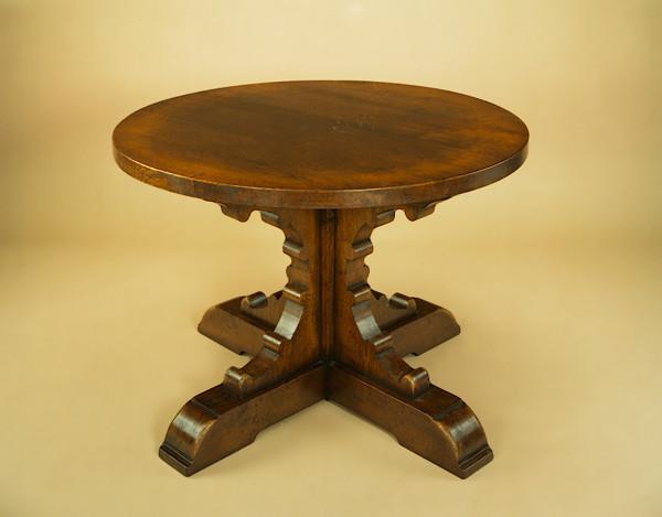 Single Pedestal Table - Bracketed Base