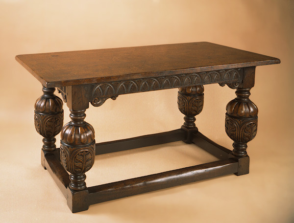 Joined Dinning Table - Carved