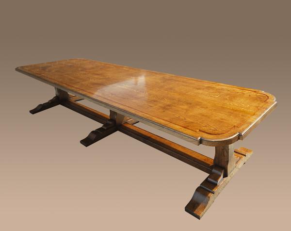 Dining Table - 3 Square leg Suports