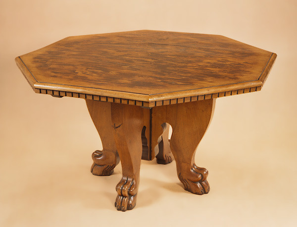 Italian Octagonal Walnut Centre Table