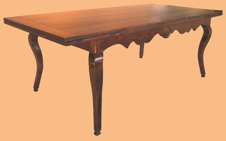 Cherry Cabriole Leg Shaped Side Rail Table