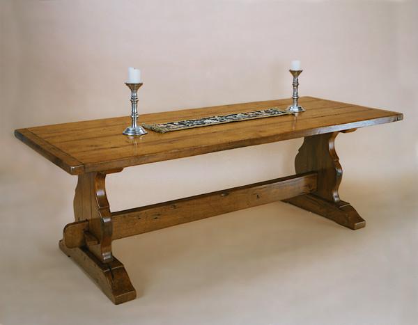 Joined Dining Table - Trestle End
