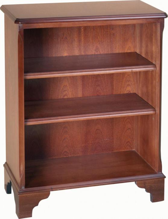 Kleines Bücherregal mit zwei Regalböden, Mahagoni