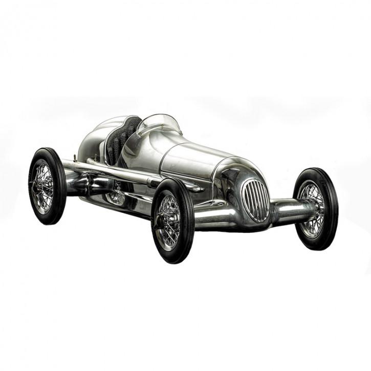 Modellauto - Silberpfeil Alu/Brown