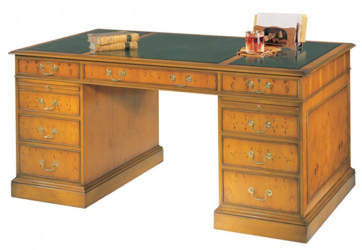 Bevan Funnell Pedestal Desk Schreibtisch in Eibe