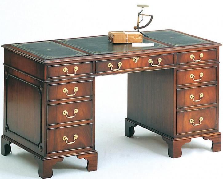 Bevan Funnell Pedestal Desk Schreibtisch in Mahagoni