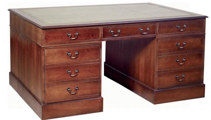 """Großer Mahagoni Schreibtisch """"Pedestal Desk"""""""