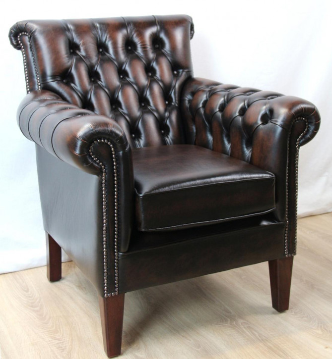 """Preston Club Chair"" Chesterfield Ledersessel"
