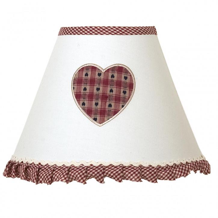 Schöner Lampenschirm mit Herzmuster
