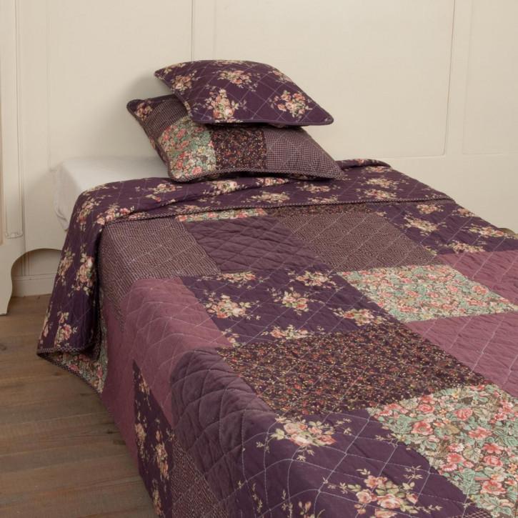 "Tagesdecke ""Purple Flower"" 150x150cm"