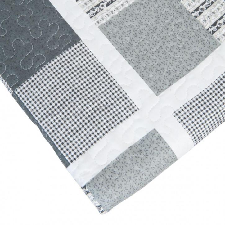 Tagesdecke Patch Grau 1 Person 180x260