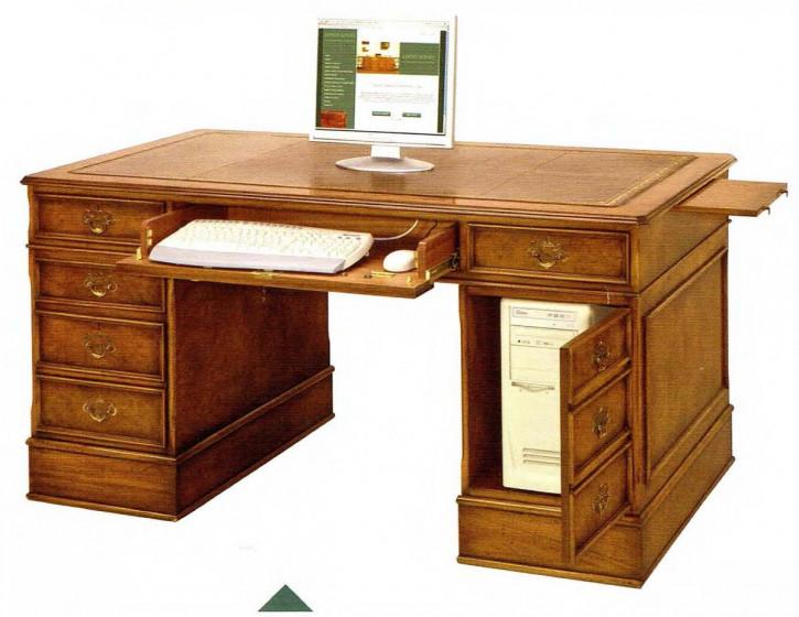 Schreibtisch mit Tastatur-Auszug 137cm