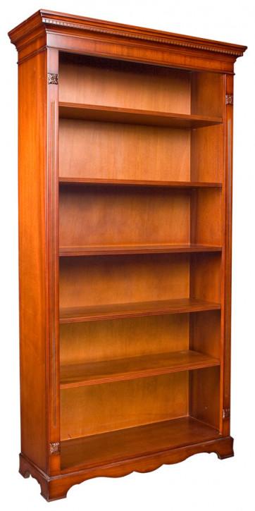 Offene Bücherregal klein in Eibe oder Mahagoni