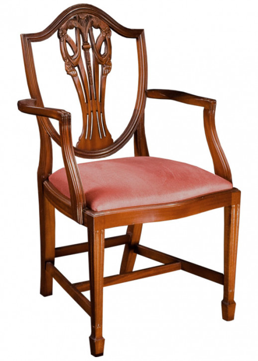 Easton Shieldback Chair in Mahagony oder Eibe
