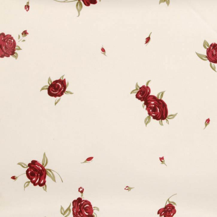 Wachstuch rote Rosen 50 x 140 cm