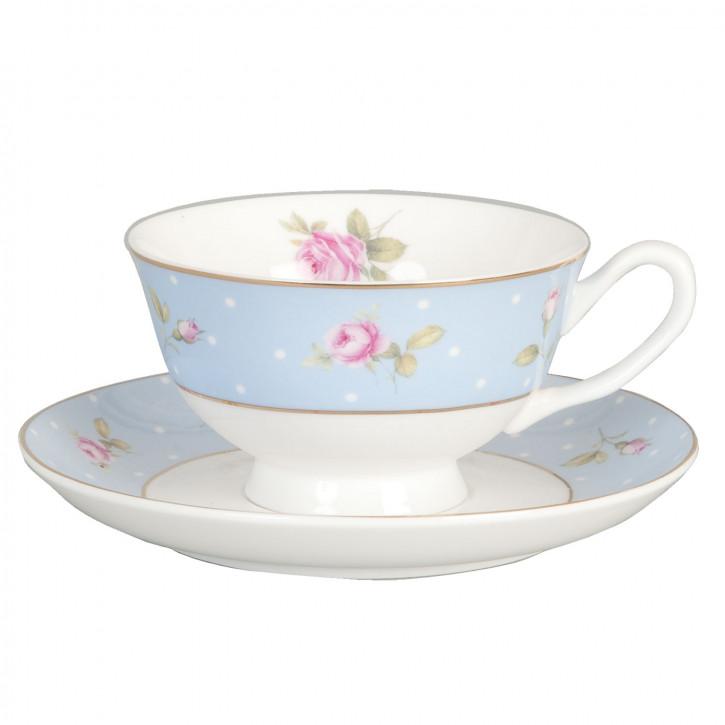 Kaffeetasse Tasse mit Untertasse Blau