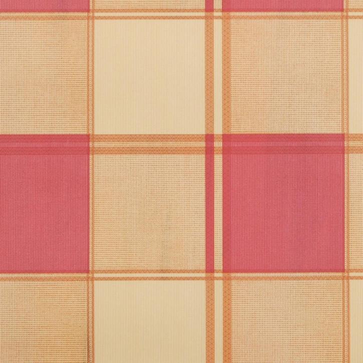 Wachstuch rosa natur kariert 140 x 275 cm