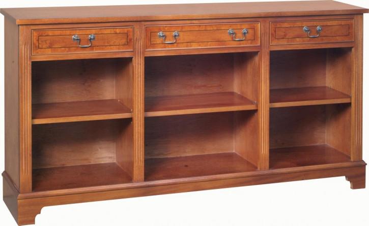 Bücherschrank mit drei Schubladen
