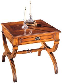 Bevan Funnell Römisches Lampen-Tisch in Shard Mahagoni