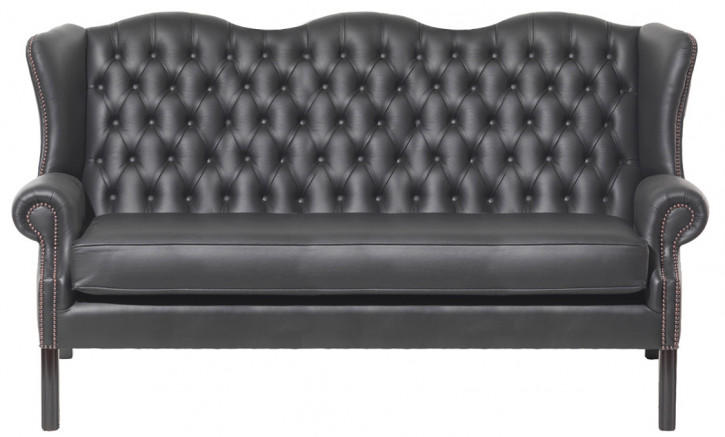 """Royal"" Chesterfield Sofa original Anilinleder 3-Sitzer"
