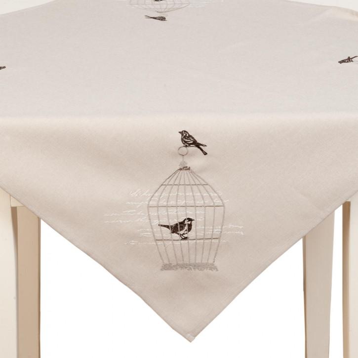 Tischdecke Vögel Vogelkäfig ca. 85 x 85 cm
