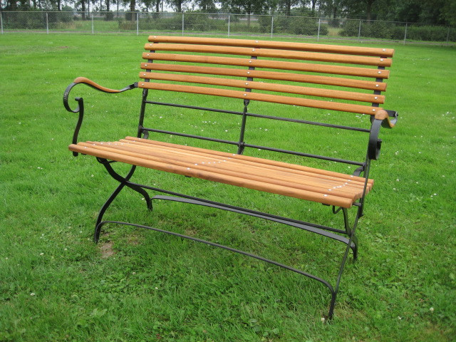 "Garten Bank Folding garden bench ""Rochefort"" helles Holz"