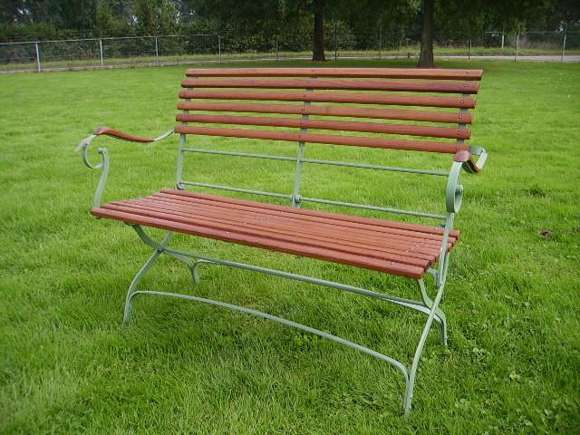 """Gartenbank Folding garden bench """"Rochefort"""" dunkles Holz"""