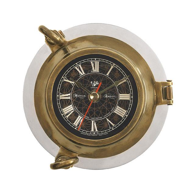 Uhr - Porthole Clock, Aluminium