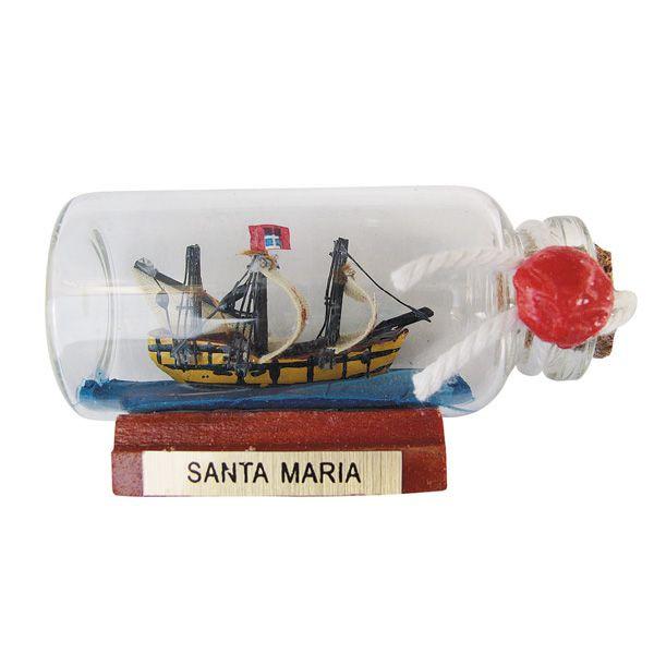 Flaschenschiff - SANTA MARIA, mini. L: 6cm
