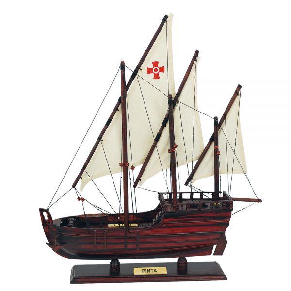 Karavelle - Pinta, Holz mit Stoffsegel, L: 37cm, H: 43cm