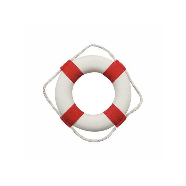 Rettungsring, rot/weiß, Styropor mit Stoff, Ø: 14cm