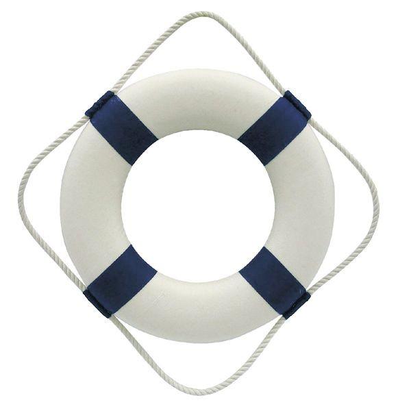 Rettungsring, blau/weiß, Styropor mit Stoff, Ø: 30cm