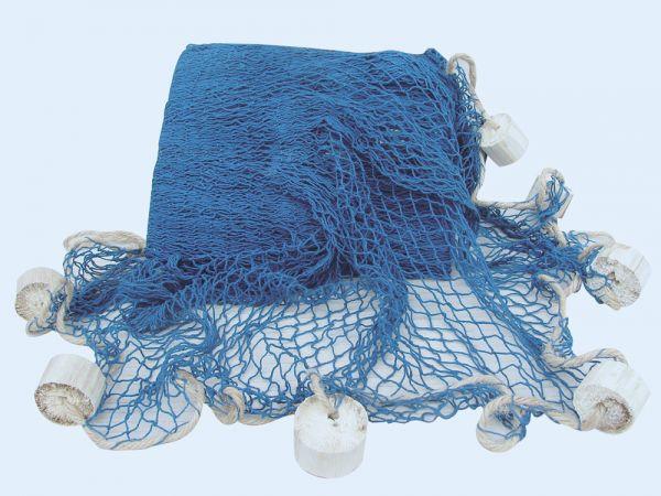 Fischernetz mit Schwimmern, blau, ca. 250x250cm