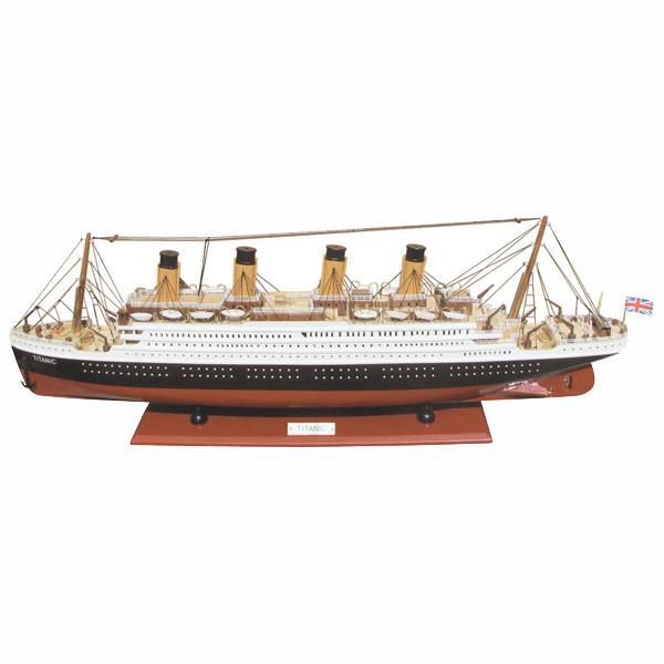 Schiffsmodell - Titanic, Holz, L: 80cm, H: 29cm