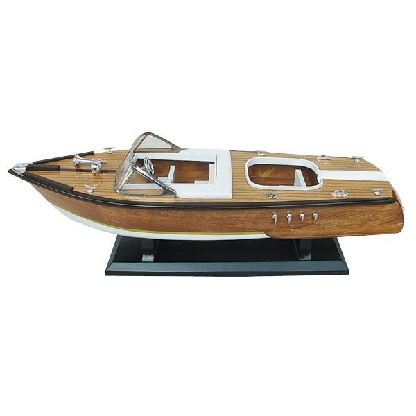 Italienisches Sportboot, Holz, L: 50cm, H: 15cm