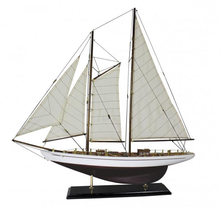 Segel-Yacht, Holz mit Stoffsegel, L: 71cm, H: 74cm