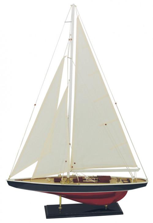 Segel-Yacht, Holz mit Stoffsegel, L: 60cm, H: 86cm