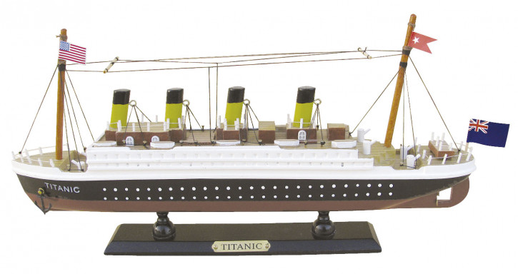 Schiffsmodell - Titanic, Holz, L: 35cm, H: 16cm