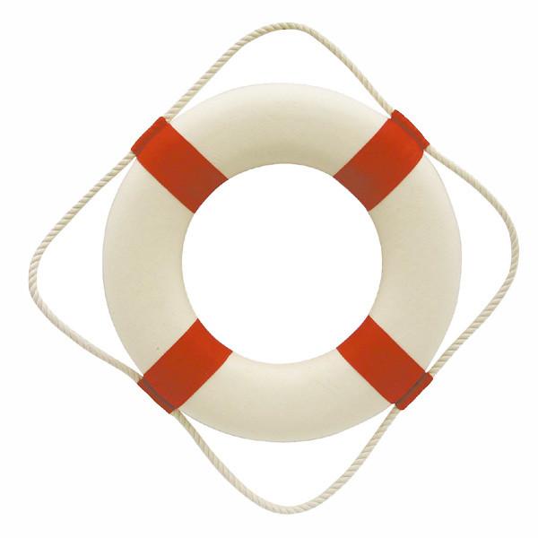 Rettungsring, rot/weiß, Styropor mit Stoff, Ø: 30cm