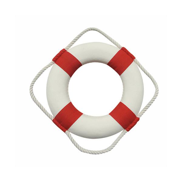 Rettungsring, rot/weiß, Styropor mit Stoff, Ø: 20cm