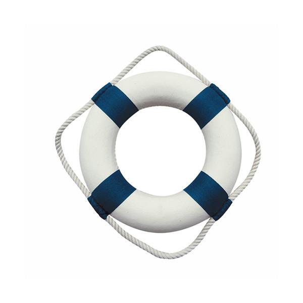 Rettungsring, blau/weiß, Styropor mit Stoff, Ø: 20cm