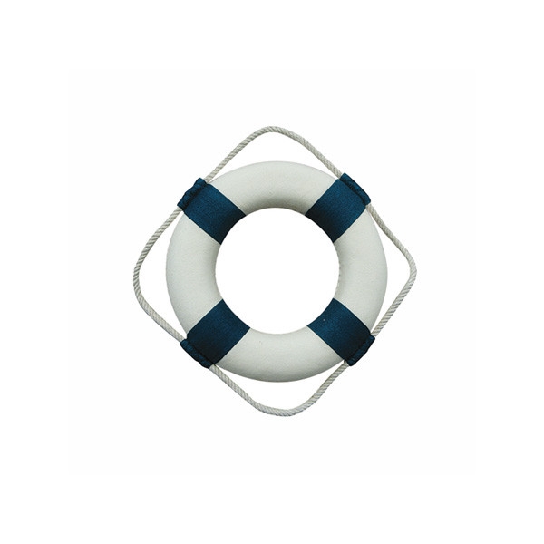 Rettungsring, blau/weiß, Styropor mit Stoff, Ø: 14cm