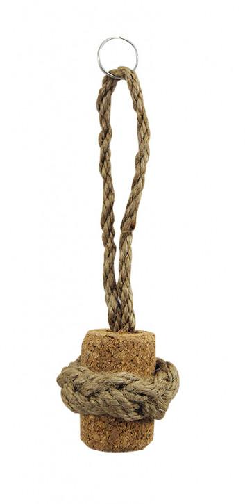 Schlüsselanhänger - Korkpfropfen mit Seil, L: 15cm, Ø: 3/4,5cm