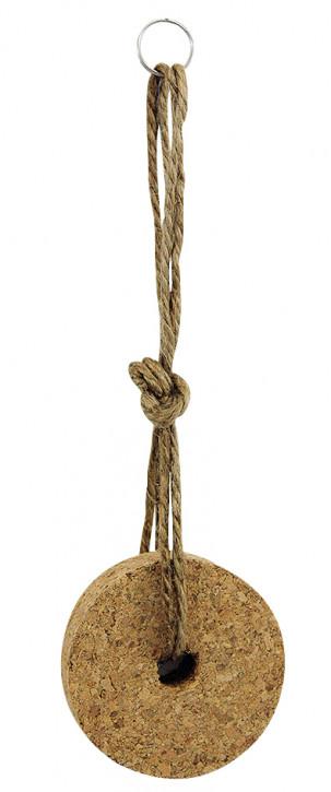 Schlüsselanhänger - Korkring mit Seil, L: 20cm, Ø: 6cm