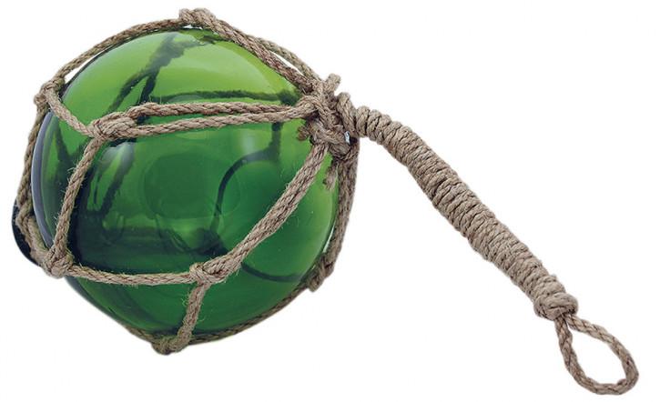 Fischer-Kugel, grün, Glas mit Netz, Ø: 10cm