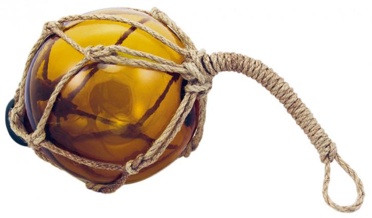 Fischer-Kugel, amber, Glas mit Netz, Ø: 10cm