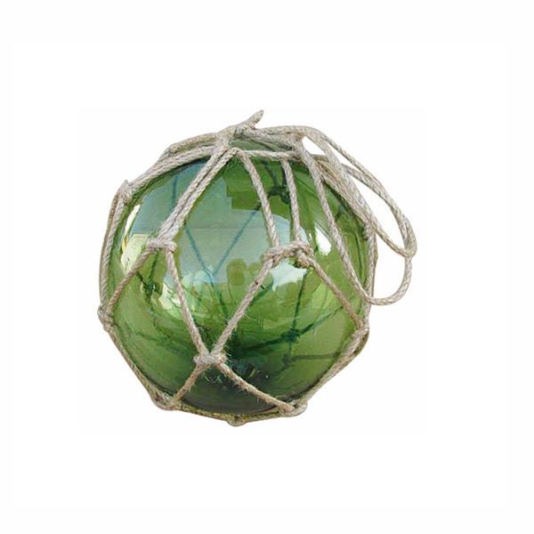 Fischer-Kugel, grün, Glas mit Netz, Ø: 12,5cm