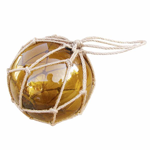 Fischer-Kugel, amber, Glas mit Netz, Ø: 12,5cm
